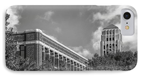 University Of Michigan Natural Sciences Building With Burton Tower IPhone 7 Case by University Icons