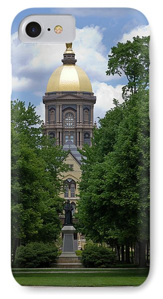 University Of Notre Dame Golden Dome IPhone Case