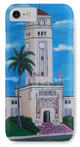 University Of Puerto Rico Tower Phone Case by Luis F Rodriguez