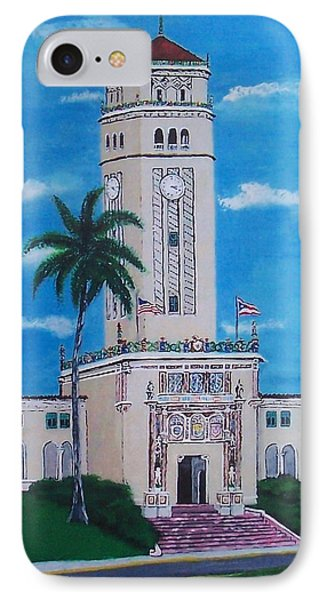 University Of Puerto Rico Tower IPhone Case by Luis F Rodriguez