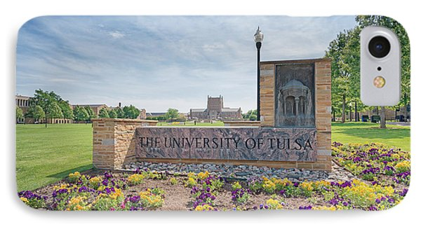 University Of Tulsa Mcfarlin Library IPhone Case by Roberta Peake