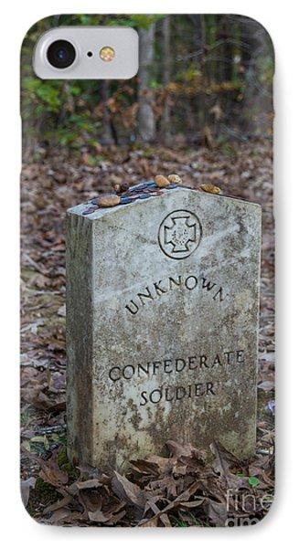 Unknown Confederate Soldier - Natchez Trace IPhone Case