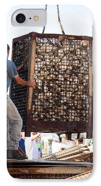 Unloading Quahogs IPhone Case by Allan Morrison