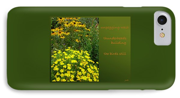 IPhone Case featuring the digital art Unpegging Wash Haiga by Judi and Don Hall