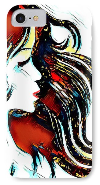 IPhone Case featuring the digital art Unrestricted-abstract by Pennie McCracken
