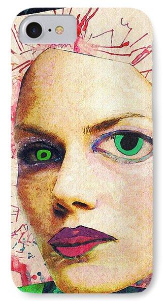Unsettling Gaze Phone Case by Sarah Loft