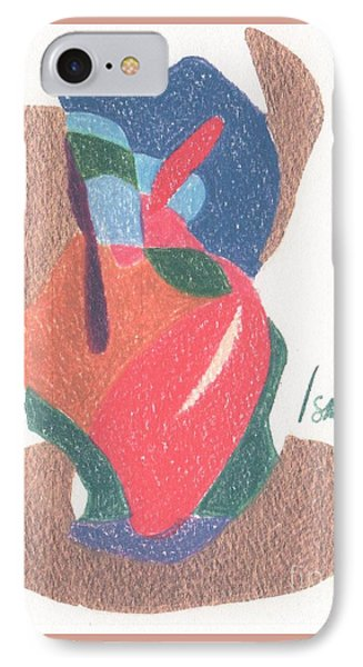 IPhone Case featuring the drawing Untitled Abstract by Rod Ismay