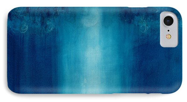 Untitled Blue Painting IPhone Case by Charlie Millar