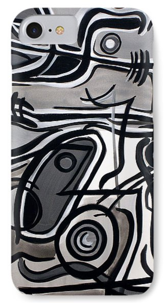 IPhone Case featuring the painting Untitled Gray by Lynda Lehmann