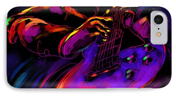 Untitled Guitar Art IPhone Case by DC Langer