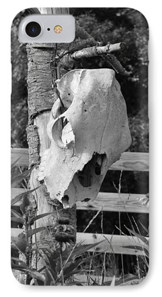 IPhone Case featuring the photograph Untitled In Black And White by Laurinda Bowling