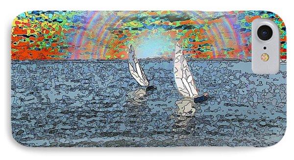 Unto The Sunset We Sail My Love IPhone Case by Tim Allen