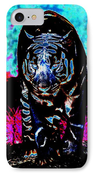 IPhone Case featuring the photograph Unusual Tiger On The Prowl by Maggy Marsh
