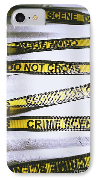 Cross iPhone 7 Case - Unwrapping A Murder Investigation by Jorgo Photography - Wall Art Gallery