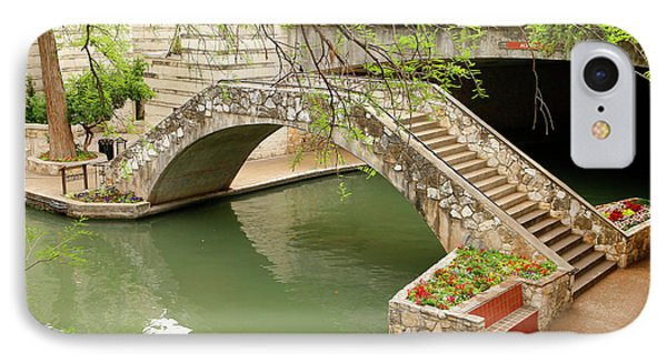 IPhone Case featuring the photograph Up And Over - San Antonio River Walk by Art Block Collections