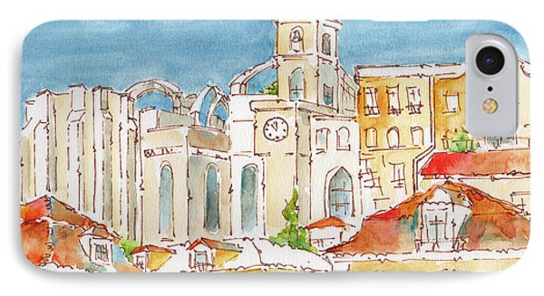 IPhone Case featuring the painting Up From Rossio Square by Pat Katz