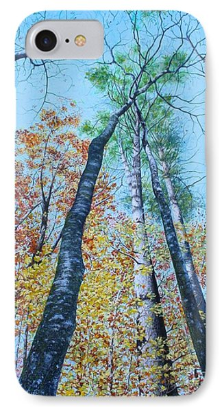 Up Into The Trees IPhone Case by Mike Ivey