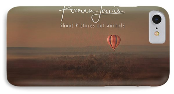 IPhone Case featuring the photograph Up Up And Away In My Beautiful Balloon  by Karen Lewis