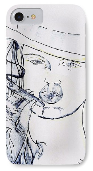 Up Your Nose IPhone Case by Contemporary Michael Angelo