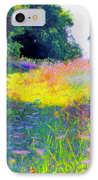 Uphill In The Meadow IPhone Case by Shirley Moravec
