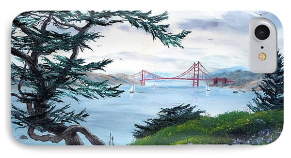 Upon Seeing The Golden Gate IPhone Case by Laura Iverson