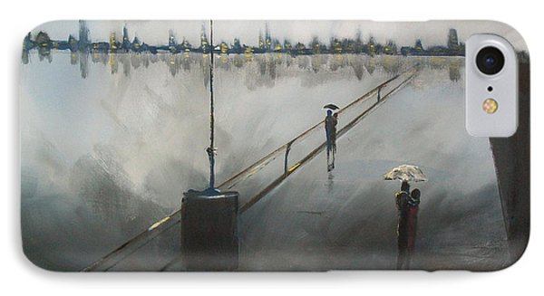 Upon The Boardwalk IPhone Case by Raymond Doward