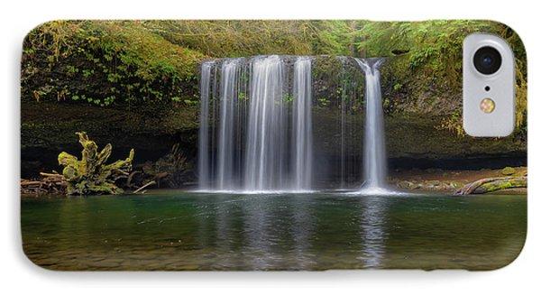 Upper Butte Creek Falls In Fall Season Phone Case by David Gn