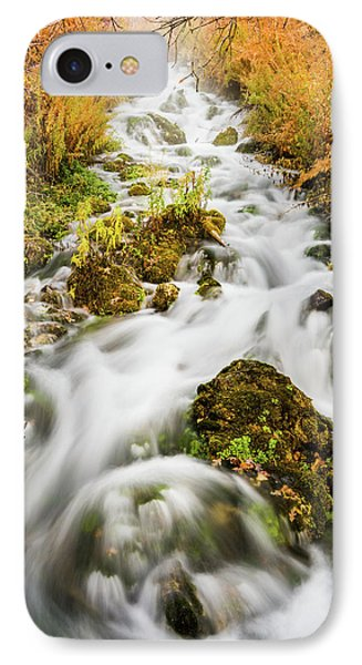 Upper Cascades At Cascade Springs IPhone Case by TL Mair