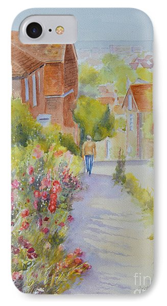 Upper Church Hill 2015 Hythe IPhone Case by Beatrice Cloake