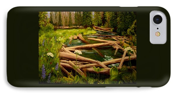 IPhone Case featuring the painting Upper Deschutes by Nancy Jolley