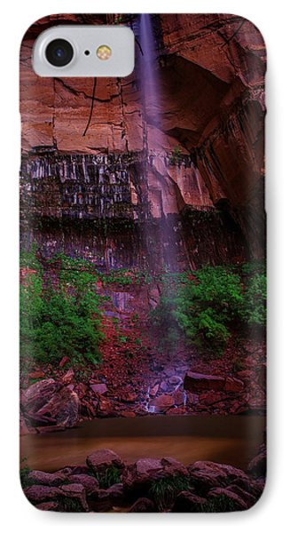 Upper Emerald Pools Fall Zion National Park IPhone Case by Scott McGuire