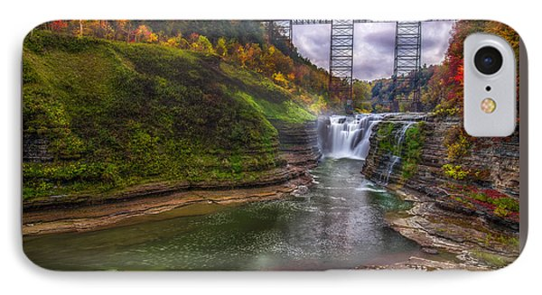 Upper Falls In Fall IPhone Case