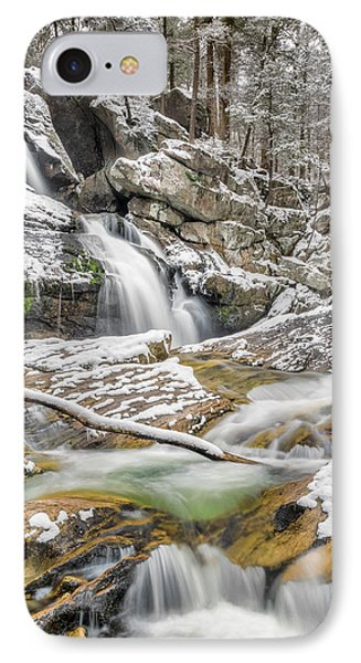 Upper Kent Falls Spring Snow 2016 IPhone Case by Bill Wakeley