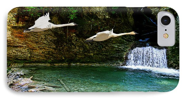 Upper Margaret Falls IPhone Case by Ed Hall