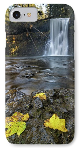Upper North Falls In Autumn Phone Case by David Gn
