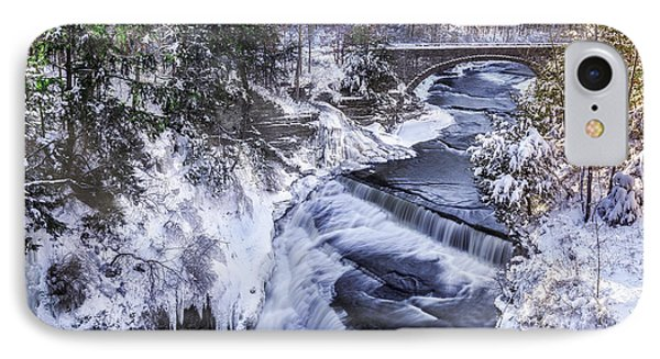Upper Taughannock Winter IPhone Case by Mark Papke