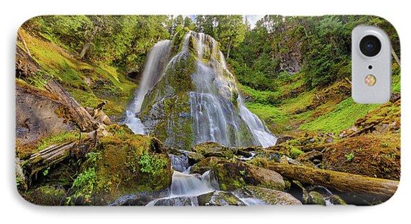 Upper Tier Of Falls Creek Falls In Summer Phone Case by David Gn