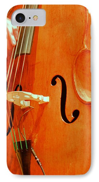 Upright Bass 3 IPhone Case by Anita Burgermeister