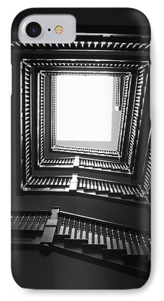 Upstairs- Black And White Photography By Linda Woods IPhone Case