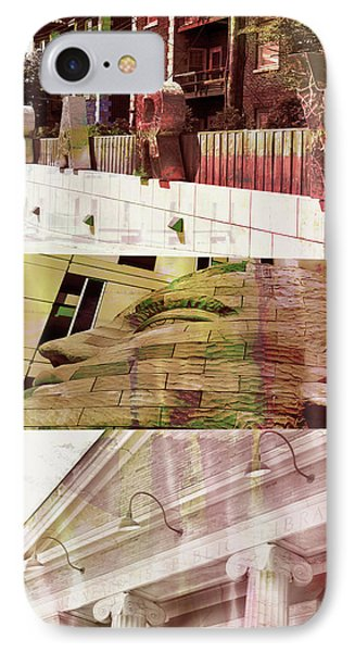 IPhone Case featuring the photograph Uptown Library With Color by Susan Stone