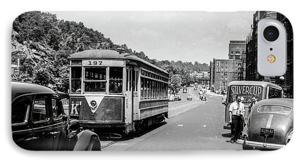 IPhone Case featuring the photograph Uptown Trolley Near 193rd Street by Cole Thompson