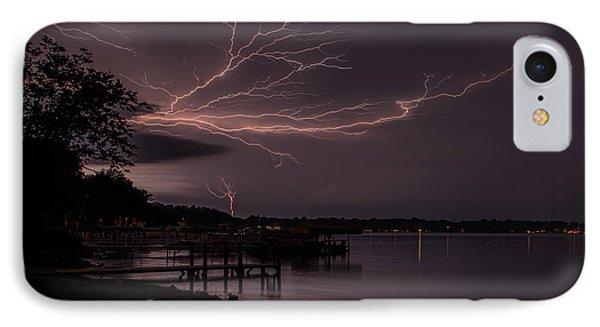 Upward Lightning IPhone Case by John Crothers