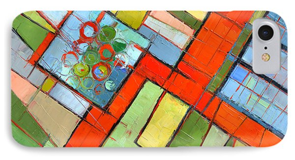 Urban Composition - Abstract Zoning Plan IPhone Case by Mona Edulesco