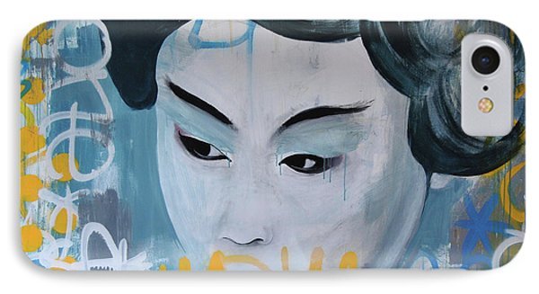 Urban Geisha Girl IPhone Case by Mike Patino