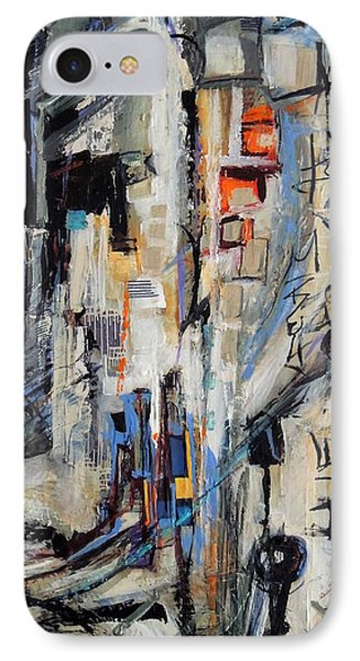 IPhone Case featuring the painting Urban Street 2 by Mary Schiros