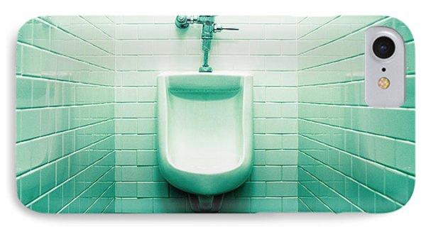 Urinal In Men's Restroom. Phone Case by John Greim