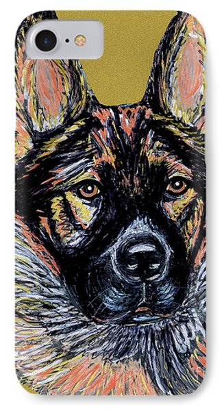 IPhone Case featuring the painting Urlike Gsd by Ania M Milo