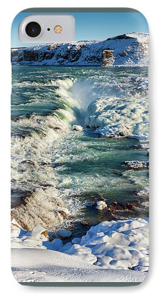 IPhone Case featuring the photograph Urridafoss Waterfall Iceland by Matthias Hauser