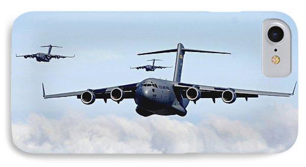 U.s. Air Force C-17 Globemasters IPhone Case by Stocktrek Images