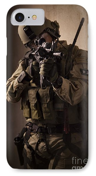 U.s. Air Force Csar Parajumper Armed Phone Case by Tom Weber